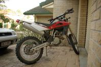 Motorrad nach dem Einsatz