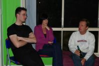 Ich, Liz und Brett v.l.