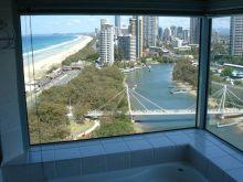 Ausblick aus der Badewanne