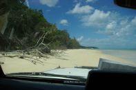 Freie Fahrt am Strand