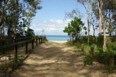 Vom Camp zum Strand