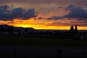 Sonnenuntergang Rotorua