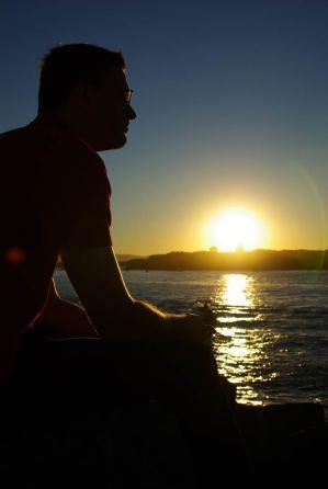 Sonnenuntergang an der Spit