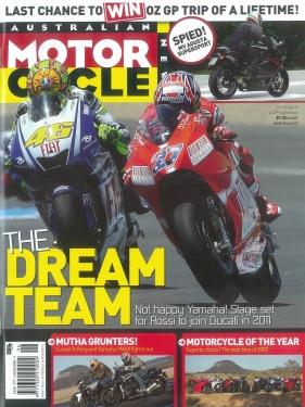 Titelblatt mit dem MV Agusta Foto