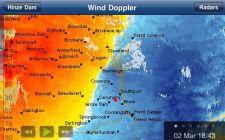 Wind Doppler, Radar steht in Brisbane