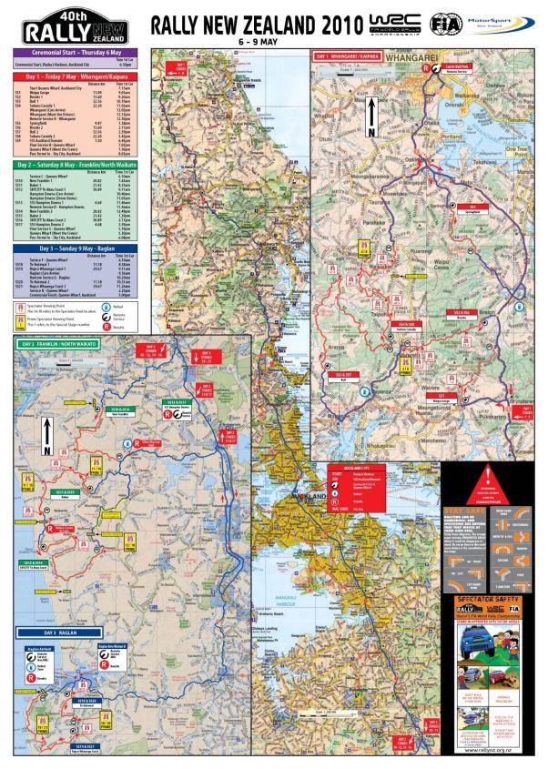WRC Rally New Zealand 2010 - Karte