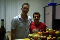 Marc und ich kurz vorm Bananenkampf