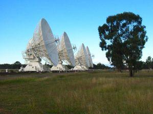 22 m große Radioteleskope in Narrabri