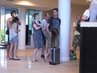 Einchecken ins Sheraton Hotel