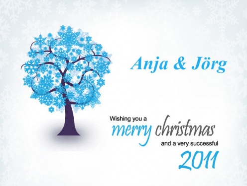Merry Christmas and a very successful 2011 from Anja and Jörg