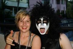 Anja als Madonna mit Gene Simmons