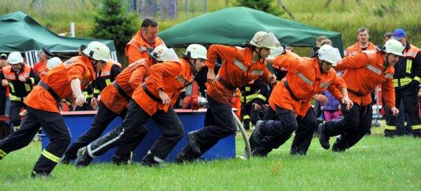 Start der Mannschaft Freiwillige Feuerwehr Oberlind