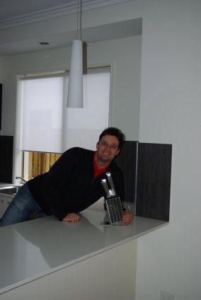 Erstes Stück in der neuen Küche