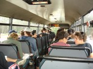 Busfahrt zum Festival