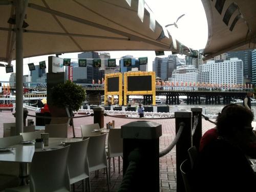 Ausblick aus dem Restaurant
