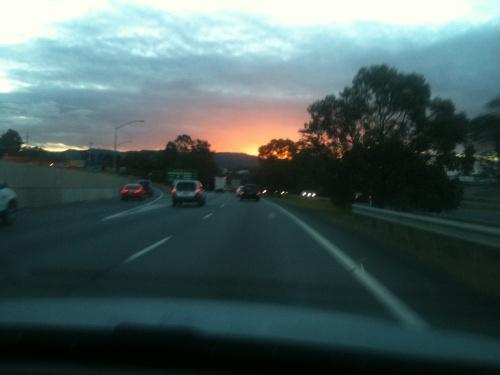 Was für ein Sonnenuntergang