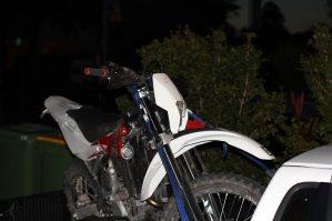 Motorrad auf dem Ute