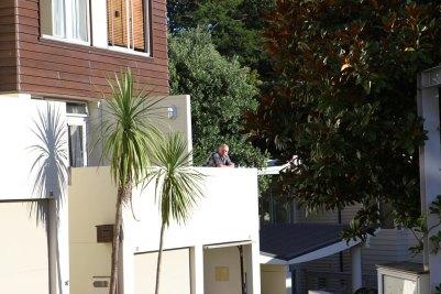 HD auf dem Balkon