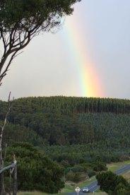 Zum Abschluss des Tages ein Regenbogen