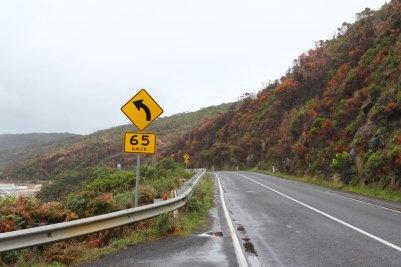 Great Ocean Road der Küste entlang