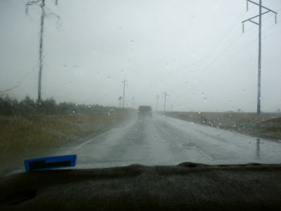 Anreise im Regen