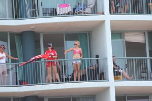 Aktion auf den Balkonen