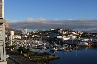 Blick vom Hotel auf Townsville