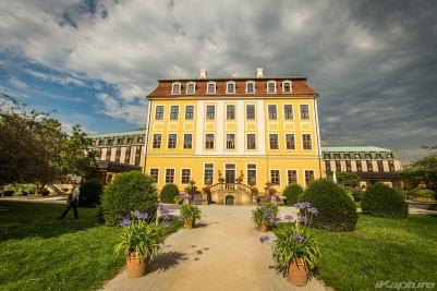 Unser Hotel in Dresden von der Flussseite