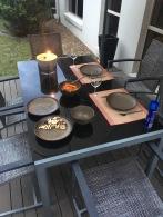 Draußen Essen