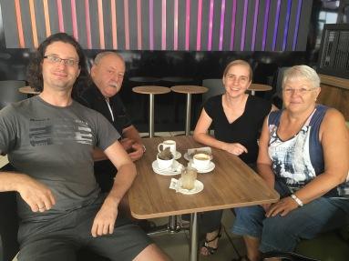 Die Gruppe. v.l. Jörg, Heinz Rudolf, Anja, Brigitte