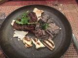 Steak Mushrooms und Halumi
