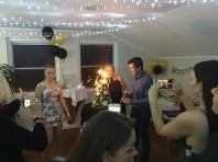 Der Kuchen war on Fire